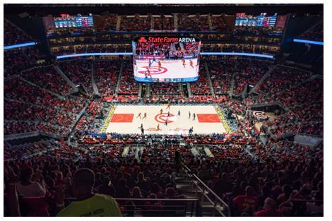 星360°LED屏幕入驻NBA,点亮亚特兰大老鹰队