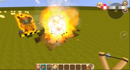 迷你世界:玩家意外发 现武器增强BUFF,使用弹弓
