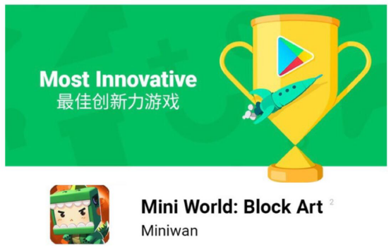 迷你世界获Google Play2018最具创新力奖海外扩张不断提速[多图]图片2